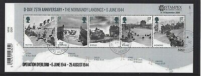 GREAT BRITAIN 2019 STAMPEX OVERPRINT D-DAY FINE USED, No. 5253 LIMITED EDITION