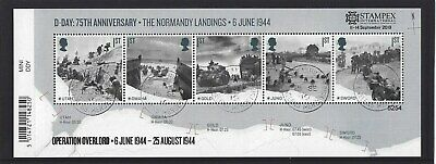 GREAT BRITAIN 2019 STAMPEX OVERPRINT D-DAY FINE USED, No. 5254 LIMITED EDITION