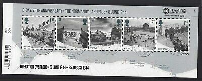 GREAT BRITAIN 2019 STAMPEX OVERPRINT D-DAY FINE USED, No. 5255 LIMITED EDITION