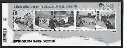 GREAT BRITAIN 2019 STAMPEX OVERPRINT D-DAY UM, MNH, No. 5260 LIMITED EDITION