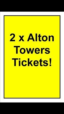 2 X Alton Towers Tickets For Sunday 29th September (29/09/19)