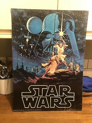 Star Wars A New Hope (1977) Worm Factors Poster Signed by Carrie Fisher