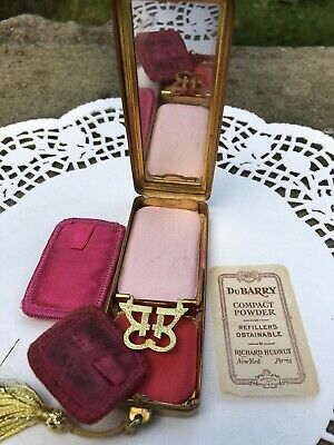 Antique DuBarry Richard Hudnut Dance Compact Chatelaine Rouge & Mirror C.1910