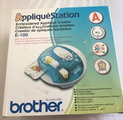Brother Applique Station Model E100  Embroidery Creator With Designs