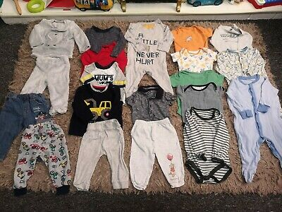 6-9 Months Boys  Bundle Job Lot 20 Items Tops, Trausers, Vests, Grows, Romper..