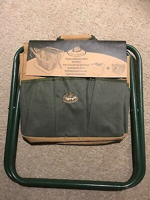 Folding Gardener's Camping Fishing Stool With Detatchable Bag BNWT