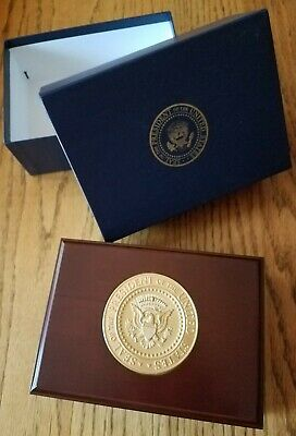 Presidential White House Gift Donald Trump Wood Box Presidential Seal