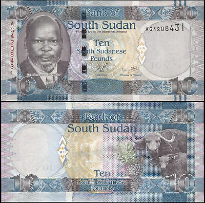 SOUTH SUDAN 10 SOUTH SUDANESE POUNDS - ND (2011) - Unc - P.7a Banknote