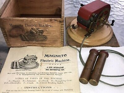 Antique Elictric Magneto Medical Shocking Toy Machine Pat. April 27 1897