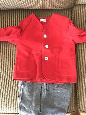 Vintage 60s Merry Mites Red Velour Jacket - Perfect for the Holiday Season