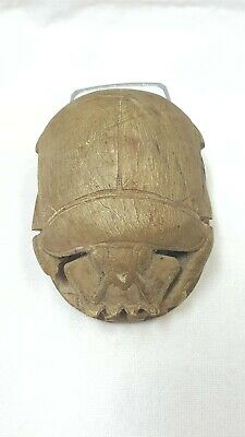 Ancient Egyptian Antique Scarab and Heiroglyph Carved Stone Elephant Man