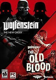 Wolfenstein Two Pack: The New Order and The Old Blood - PC DVD - New Sealed