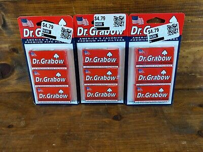 Dr. Grabow Premium Pipe Filters NEW IN BOX 90 Count 9 Boxes Of 10 in 3 Packs
