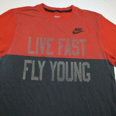 buy the cheapest 2018 sneakers NIKE LIVE FAST FLY YOUNG TEE T SHIRT Sz Mens S Tri Blend ...