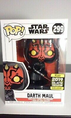 Funko Pop Star Wars Sith Darth Maul Hooded #299 Galactic Convention Walgreens 🔥