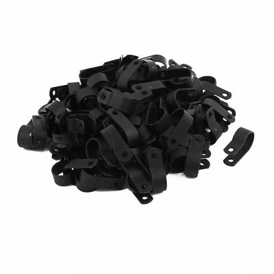 25 Pack 1//8 X 1//2 CABLE CLAMP NYLON BLACK UV RESISTANT .125 HOSE WIRE ELECTRICAL