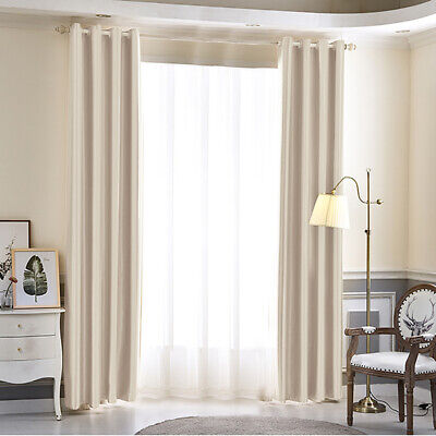 Thermal Blackout Luxurious Curtains Ready Made Eyelet Ring Top Pair High Quality
