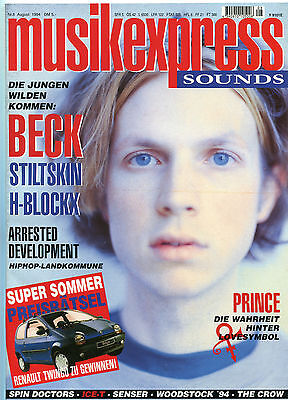 MUSIKEXPRESS SOUNDS Nr.8 AUGUST 1994 PRINCE