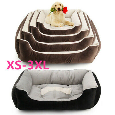 Orthopedic Dog Bed Pet Lounger Deluxe Cushion for Crate Foam Soft -Large w5
