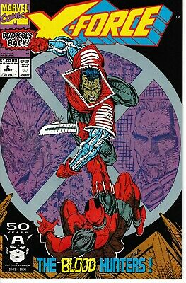 X-FORCE 2 Sept 91 Marvel VF/NM 2nd Appearance Deadpool