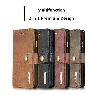 iPhone 11 Pro Max XS XR 6S 7 8 PLUS Retro Wallet Case Removable Flip Stand Cover
