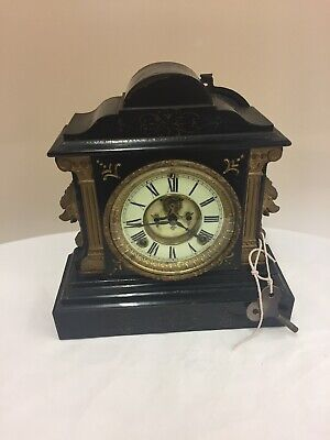 Lovely Vintage Ansonia Cast Iron Mantle Clock ***Spare & Repairs*** (D1)