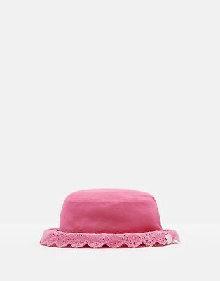 Joules Baby Peggy Broderie Hat in BRIGHT PINK