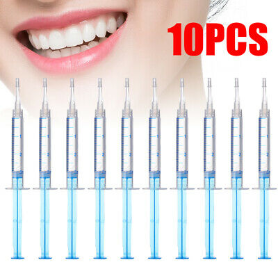 10x Teeth Whitening Gel Syringes 44% Tooth Bleaching Peroxide Dental Whitener UK