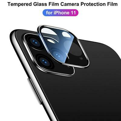 For iPhone 11 Pro Max XR Camera Lens Screen Metal Tempered Glass Film Protector