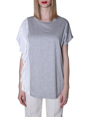 MO 187624 T-shirt twin set GRIGIO MELANGE TWIN SET
