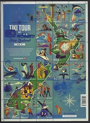 NEW ZEALAND 2012 TIKI TOUR No. 2 SHEETLET OF 20 UNMOUNTED MINT, MNH