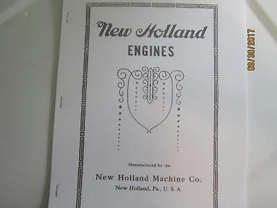 1917 New Holland Machine Co Gas Engine Instruction/Info  Manual