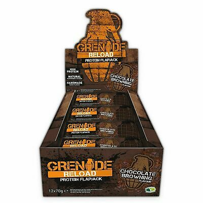 Grenade Flapjack Protein Energy Reload Bar Mix Boxes Flavors Available 12 x 70g