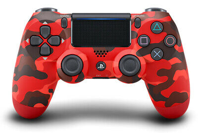 Sony PS4 Playstation 4 Controller DS4 Dualshock 4 V2 Red Camouflage
