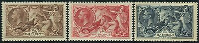 Sg 450-2 2/6, 5/- & 10/- Re-Engraved.  A superb Post Office fresh unmounted mint