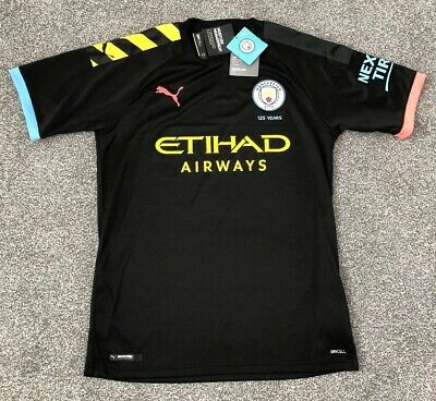 Manchester City - Men's Away Shirt - 19/20 Season - Black - Size: M