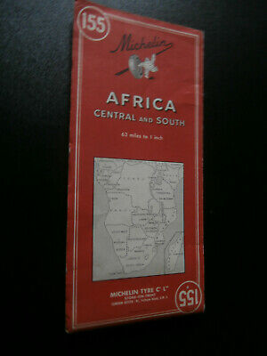 Michelin 155 : Afrique centre et sud - Africa central and south (1963) Congo,