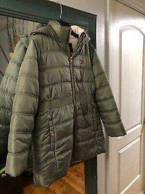 Tommy Hilfiger kids ( girls) Green Jacket size 14( L) green with Tose Gold