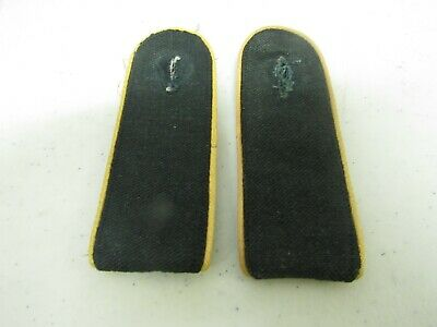 WWII German Mismatched pair of Elite Forces Yellow Piped Enlisted Shoulder Board