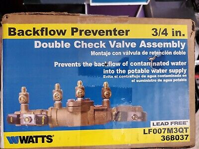"Ames 3//4/"" 2000B Double Check Valve Backflow Preventer Assembly DCA 0062489 Watts"