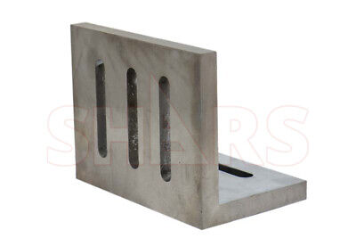 """Shars Precision Ground .0005"""" Open End Angle Plate 4-1/2x3-1/2x3"""" New"""