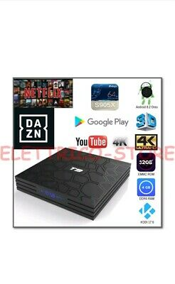 Android Box Smart Tv T9 Pro 8.1 Oreo 905X 4Gb Ram 32Gb 4K 5 Wifi Dazn Netflix