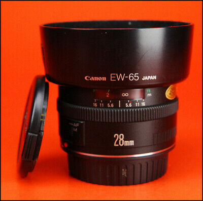 Canon EF 28mm F2.8 Autofocus Wide Angle Lens  for Canon EF  + Front & Rear Caps