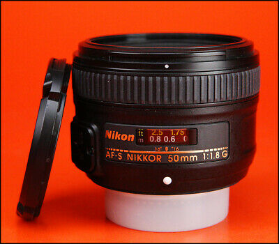 Nikon AF-S 50mm F1.8G Autofocus Prime Lens Sold with Front and Rear Caps.
