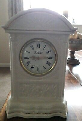 Cherub Belleek Mantle Clock Cream/Gold Porceline