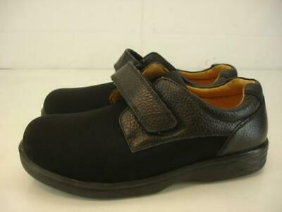 Womens 5.5 W Wide Dr. Comfort Annie X Black Leather Lycra Stretch Comfort Shoes