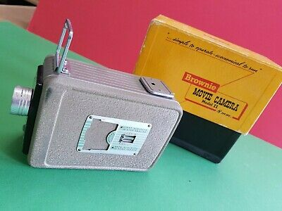 Vintage Kodak Brownie 8 Model II Standard 8mm Cine Film Camera  Box Instructions