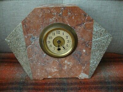Art Deco French Marble Mantel Clock