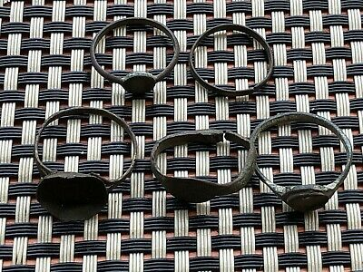 Lot Of 5 Ancient Late Roma And Byzantine Bronze Rings Circa 400-900 Ad.