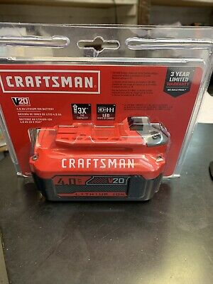 CRAFTSMAN CMCB204  V20 20-Volt Max Power Tool Battery BRAND NEW!!!-Fast Ship!!